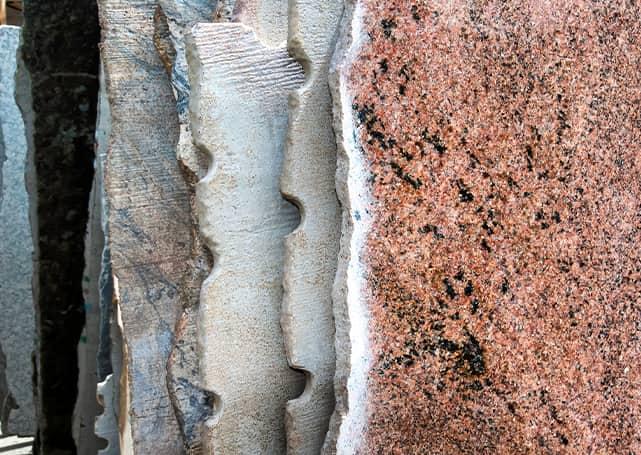 różne rodzaje kamienia